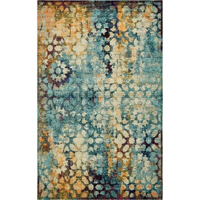 Newton Blue Area Rug Rug Size: Rectangle 5 x 8