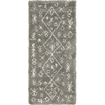 France Machine woven Gray Area Rug Rug Size: Runner 27 x 6