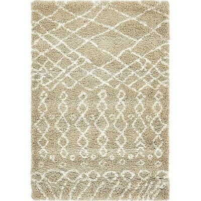 Bourne Machine woven Taupe Area Rug Rug Size: 4 x 6