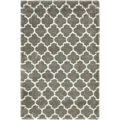 Cynthiana  Gray Area Rug Rug Size: Rectangle 5 x 8