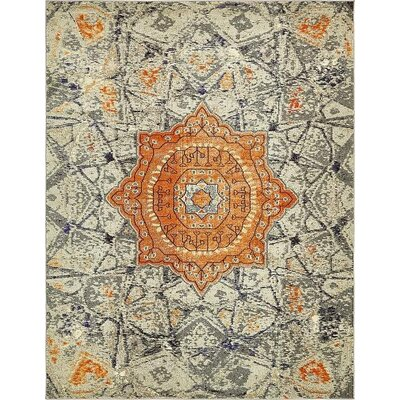 Boston  Gray Area Rug Rug Size: 8 x 10