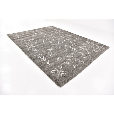 France Machine woven Gray Area Rug Rug Size: Rectangle 9 x 12