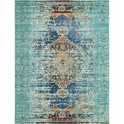 Glenn Blue Area Rug Rug Size: 8 x 10