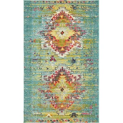 Boston Turquoise Area Rug Rug Size: 5 x 8