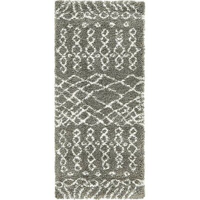 Bourne Machine woven  Gray Area Rug Rug Size: Runner 27 x 6