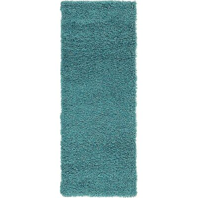 Lilah Teal Blue Area Rug Rug Size: Rectangle 33 x 53