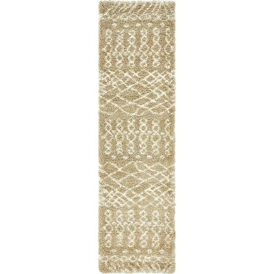 Bourne Machine woven Taupe Area Rug Rug Size: Runner 27 x 10