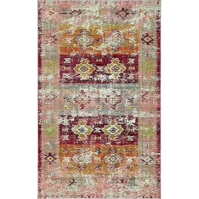 Boxborough Pink Area Rug Rug Size: 5' x 8'