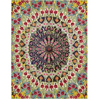 Newton Yellow Area Rug Rug Size: Rectangle 8 x 10