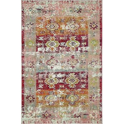 Gloucester Southwestern Pink Area Rug Rug Size: Rectangle 4' x 6'