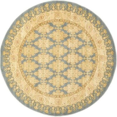 Oberlin Blue Area Rug Rug Size: Round 6