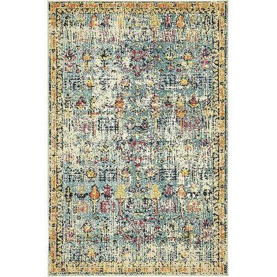 Gloucester Blue Area Rug Rug Size: Rectangle 4 x 6