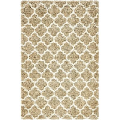 Cynthiana Taupe Area Rug Rug Size: 5 x 8