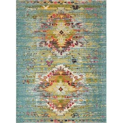 Glenn Turquoise Area Rug Rug Size: 9 x 12