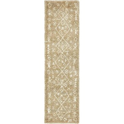 France Machine woven Taupe Area Rug Rug Size: Runner 27 x 10