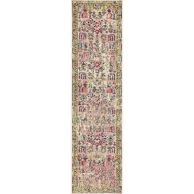 Boxborough Pink Area Rug Rug Size: Runner 27 x 10