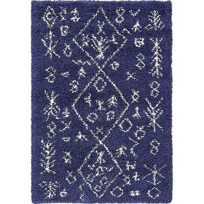 France Navy Blue Area Rug Rug Size: Rectangle 4 x 6