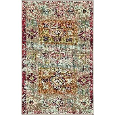Gloucester Southwestern Pink Area Rug Rug Size: Rectangle 2' x 3'