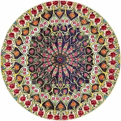 Boston  Yellow Area Rug Rug Size: Round 8
