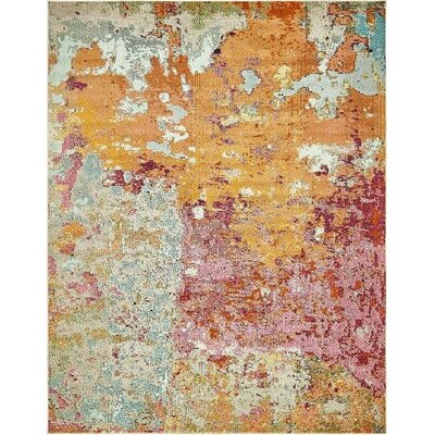 Chenango Rectangle Orange/Pink Area Rug