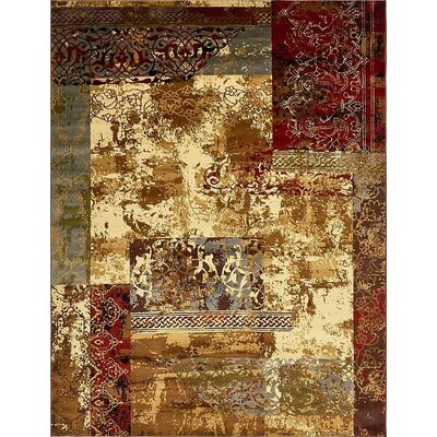 Jaidan Beige Abstract Area Rug