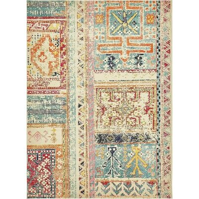 Boxborough Beige Area Rug Rug Size: 9' x 12'