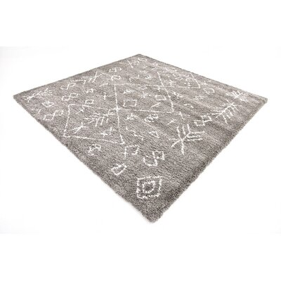 France Machine woven Gray Area Rug Rug Size: Square 8