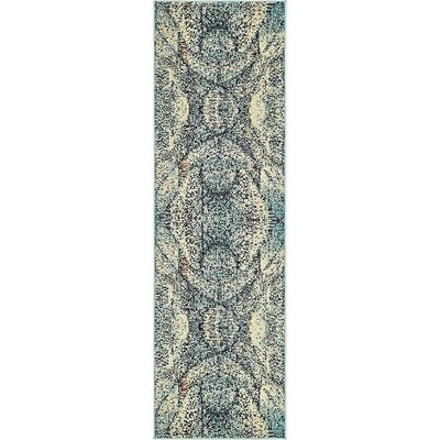 Boston Blue Area Rug Rug Size: Runner 2 x 67