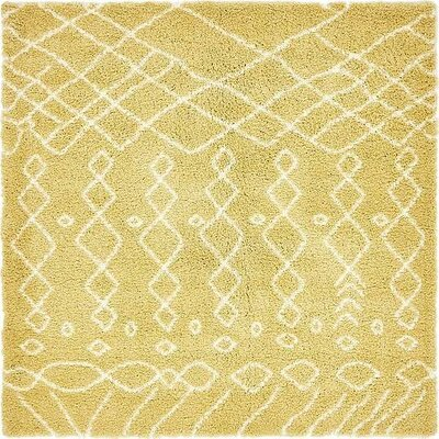 Bourne  Yellow Area Rug Rug Size: Round 8