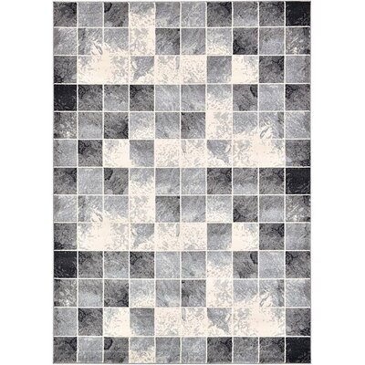 Jaina Light Gray Geometric Area Rug Rug Size: 7 x 10