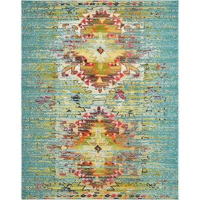 Glenn Turquoise Area Rug Rug Size: Rectangle 106 x 165