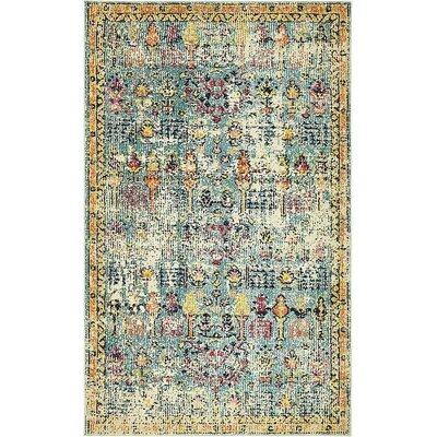 Gloucester Blue Area Rug Rug Size: Rectangle 5 x 8