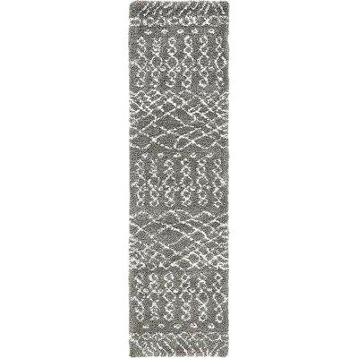 Bourne Machine woven  Gray Area Rug Rug Size: Runner 27 x 10
