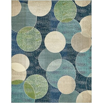 Chenango Rectangle Navy Blue Area Rug