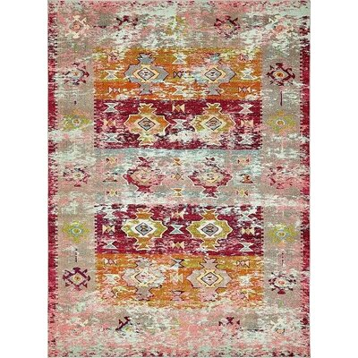 Gloucester Southwestern Pink Area Rug Rug Size: Rectangle 9' x 12'