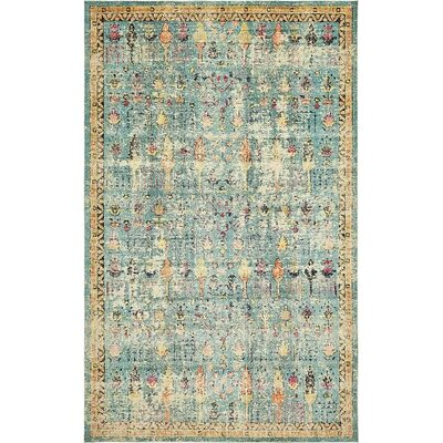 Boxborough   Blue Area Rug Rug Size: 106 x 165