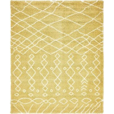 Bourne  Yellow Area Rug Rug Size: 8 x 10