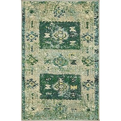 Gloucester Green Area Rug Rug Size: Rectangle 2 x 3