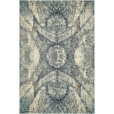 Newton Stain Resistant Blue Area Rug Rug Size: Rectangle 106 x 165
