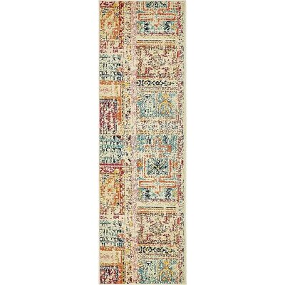 Boxborough Beige Area Rug Rug Size: Runner 2' x 6'7