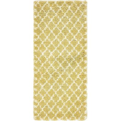 Cynthiana  Yellow Area Rug Rug Size: Runner 27 x 6
