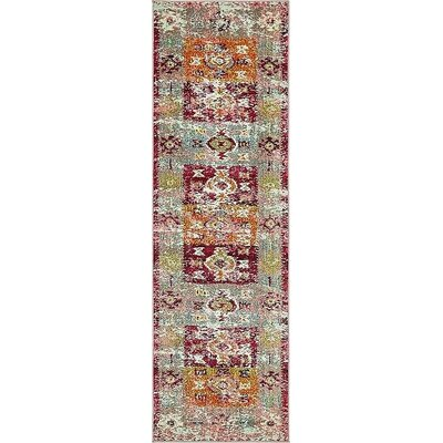 Boxborough Pink Area Rug Rug Size: Runner 2 x 67
