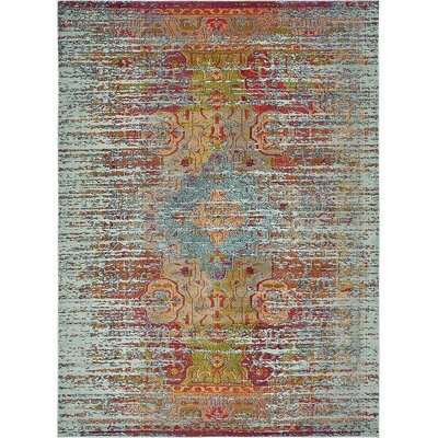 Boston  Blue Area Rug Rug Size: 9' x 12'