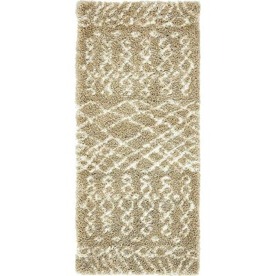 Bourne Machine woven Taupe Area Rug Rug Size: Runner 27 x 6
