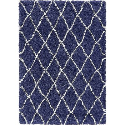 Cynthiana  Navy Blue Area Rug Rug Size: Rectangle 4 x 6