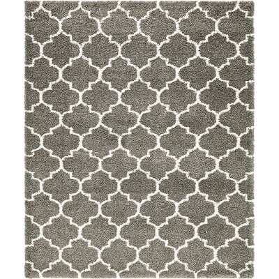 Cynthiana  Gray Area Rug Rug Size: Rectangle 8 x 10
