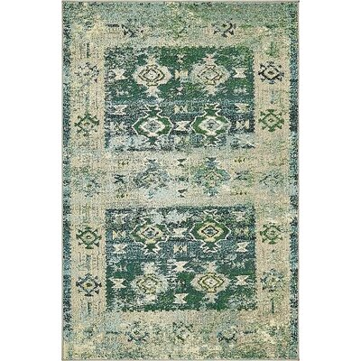 Gloucester Green Area Rug Rug Size: Rectangle 4 x 6