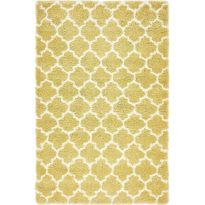Cynthiana  Yellow Area Rug Rug Size: Rectangle 5 x 8