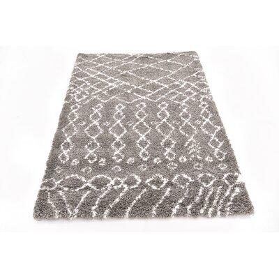 Bourne Machine woven  Gray Area Rug Rug Size: 4 x 6