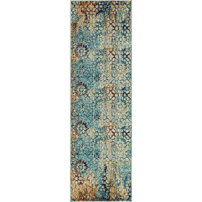 Newton Blue Area Rug Rug Size: Runner 2 x 67